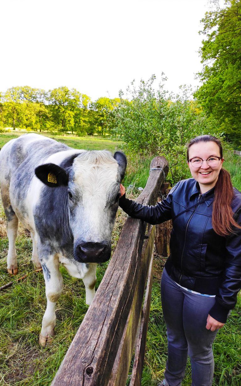 Marieke en koe